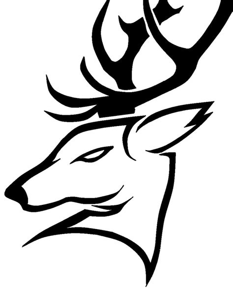 tribal tattoo outline 12 stunning tribal deer tattoos only tribal