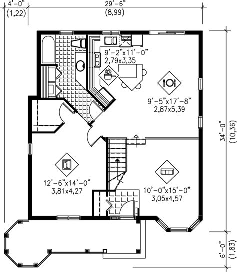 Floor Plan For A 940 Sq Ft Ranch Style Home Cottage Style House Plan 1 Beds 1 Baths 940 Sq Ft Plan