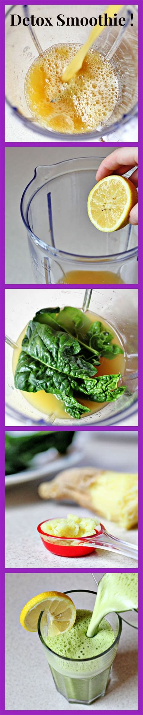 Spinach For Detox by Detox Smoothie Pineapple Lemon Spinach Leaves Grated