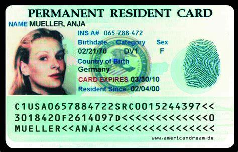 resident green card template green card die eintrittskarte nach amerika usa fl 252 ge 2013