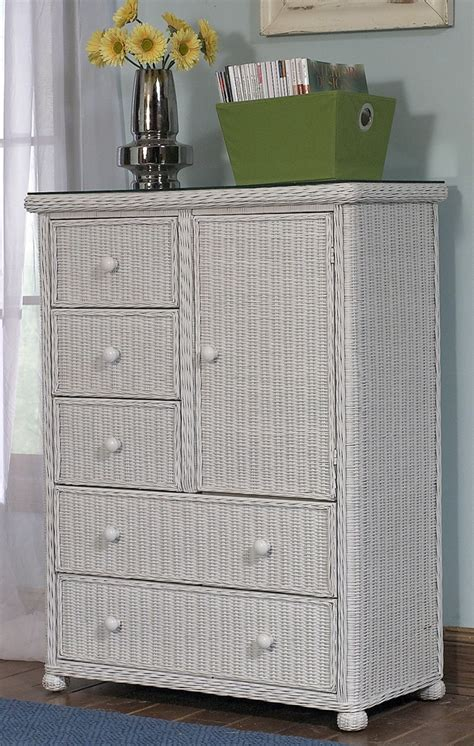 white rattan bedroom furniture 5 drawer 1 door wicker chest elana maybe someday