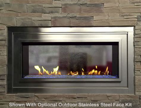 Vent Free See Through Fireplace by Artisan See Through Vent Free Linear Fireplace S Gas