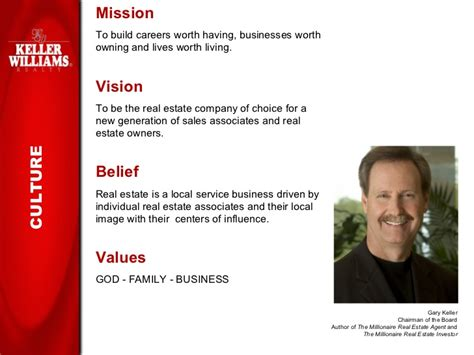 Keller Williams Realty Slide Show For Prospective Agents And Recruits Real Estate Mission Statement Template