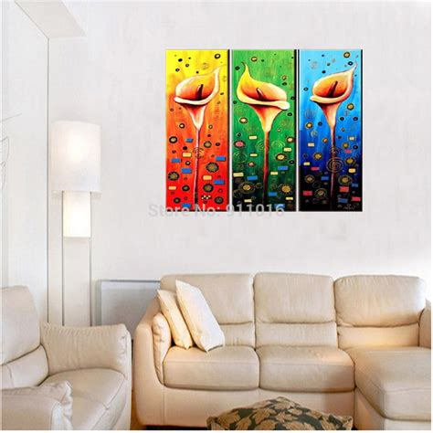 colourful flowers painting painted wall abstract home