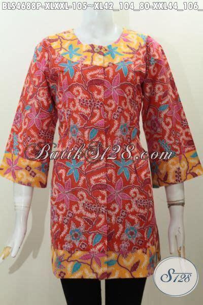 Dress Anak Erika Bunga Printing baju batik motif bunga kombinasi dua warna blus batik