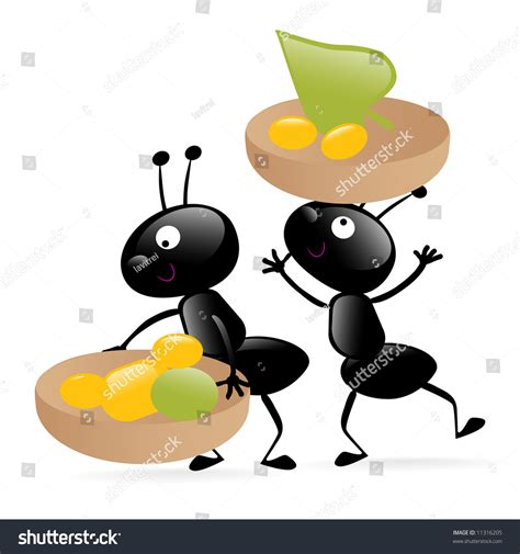 carrying food animated ant carrying food