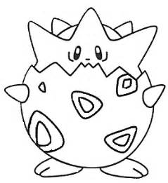 Pokemon Togepi Colouring Pages sketch template