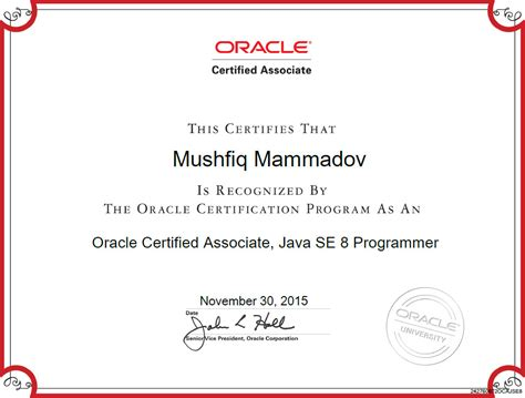 java and middleware certification oracle master per sviluppatore app myweb school