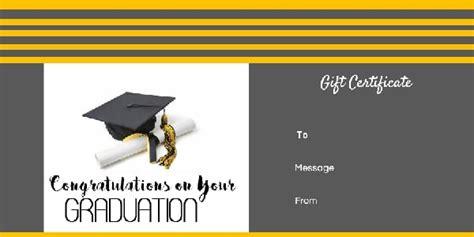 graduation gift certificate template  customizable