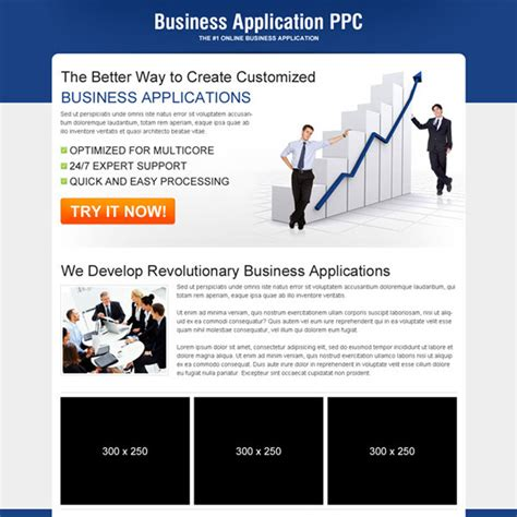 ppc landing page design templates exle for best