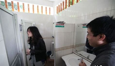 girls in public bathroom women occupy men s toilets in equality protest china