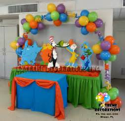 Dr Suess Decorations Party Decorations Miami Balloon Sculptures