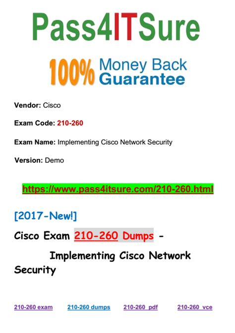 Pdf Ccna Security 210 260 Study Material by New Dumps Pdf 100 Pass Cisco 210 260 Dumps Iins