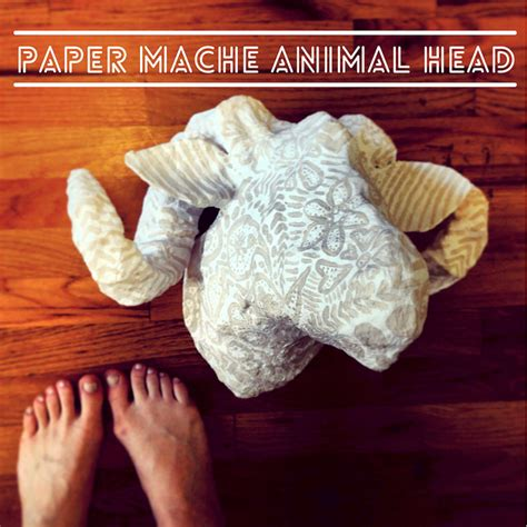 How To Make Paper Mache Animal Heads - diy animal wall mounts made of paper diy