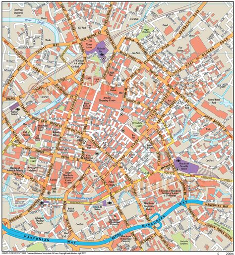 printable map york city centre royalty free manchester illustrator vector format city map