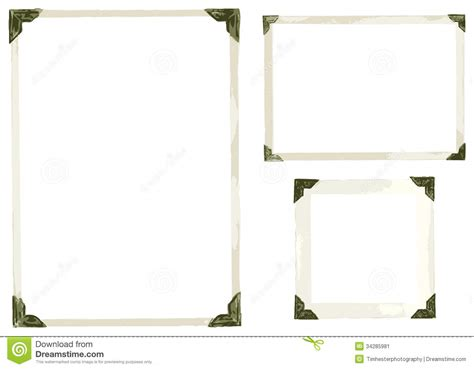 corner photo frames old photo corners vector stock image image 34285981
