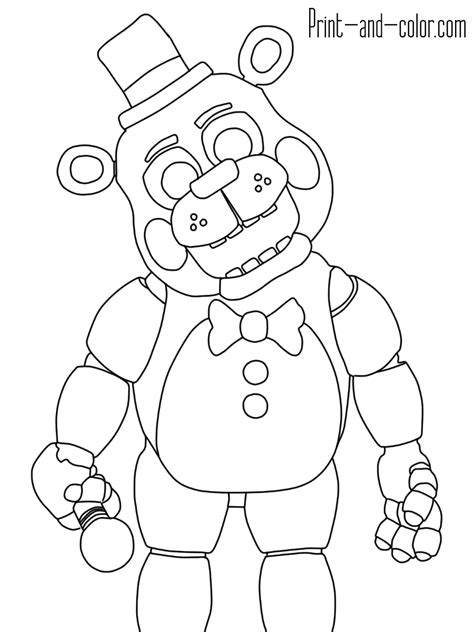 Fnaf 1 Coloring Pages by Five Nights At Freddy S Coloring Pages Print And Color