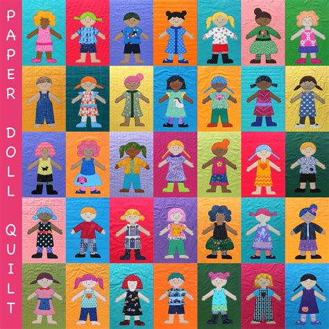 Paper Quilting Designs by Paper Doll Quilt Pattern