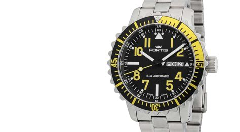 Fortis B42 Marinemaster fortis b42 marinemaster yellow day date ref 670 24 14