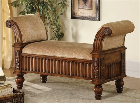 accent bench living room accent bench in brown finish benches