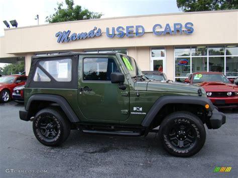Green Jeep Colors 2008 Jeep Green Metallic Jeep Wrangler X 4x4 81870621