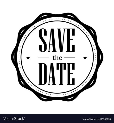 save the date images save the date vintage st royalty free vector image