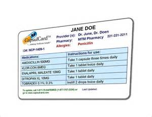 med card template medication card template 13 free printable sle