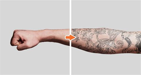 mockup for tattoo tattoo mockup photoshop templates pack by go media