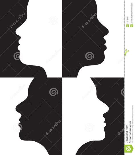 imagenes positivas y negativas siluetas positivas y negativas imagen de archivo imagen