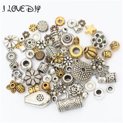 jewelry metal work wholesale 50g about 75 90pcs mixed gold tibetan silver