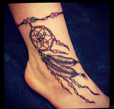 cute dreamcatcher tattoos 41 dreamcatcher tattoos on ankle