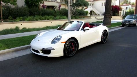 porsche 911 convertible white 2012 porsche 911 carrera s cabriolet pdk white carrera red