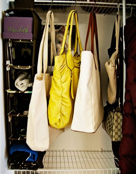 s hooks to hang purses in the closet classroom ideas
