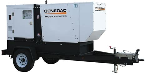generac 69kw mobile diesel generator 6788 mmg75d