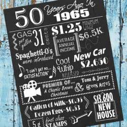50 years ago birthday sign with free printable and cut files by my paper craze silhouette