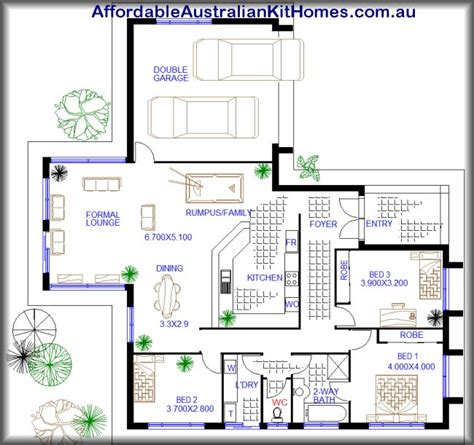 3 bedroom house plans australia 3 bedroom low set home open plan australian kit homes