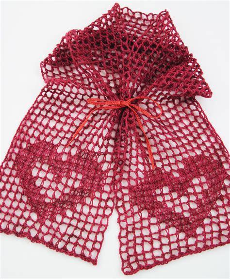 Lace Heart Pattern Knitting | i heart filet lace kal january knit heartstrings learn