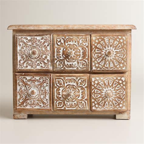 Drawer Jewelry Box by Carved Diana 6 Drawer Jewelry Box World Market