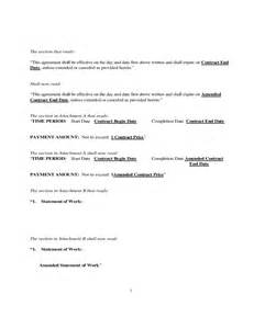 Contract Amendment Template by Doc 575709 Contract Amendment Template Contract