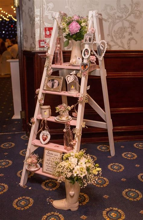 vintage wooden step ladder wedding propdecoration