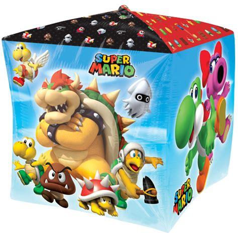 Mario Bros 15 15 quot mario bros cubez foil balloon