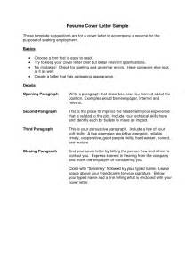 Format Of A Cover Letter For A Resume by Resume Cover Letter Exle Best Template Collection