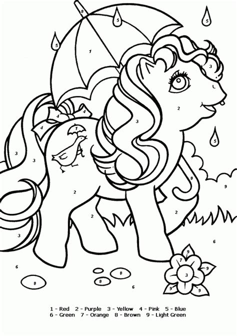 disney color numbers coloring pages coloring