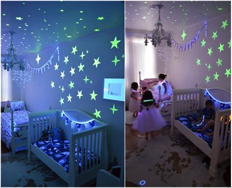glow in the paint in room glow in the paint and decals for your child s room