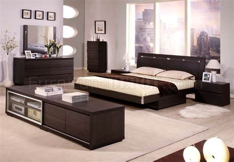 5pc Bedroom Set | contemporary 5pc bedroom set capri wenge