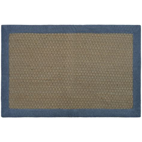 jute rug with border jute border rug 20 x 34 quot home home decor rugs area accent rugs