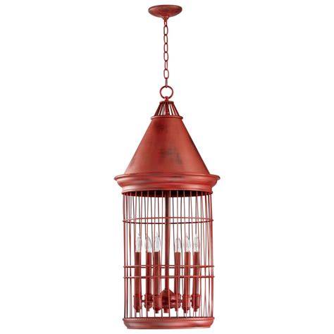 Bird Cage Chandelier Conical Bird Cage 6 Light Entryway Chandelier Kathy Kuo Home