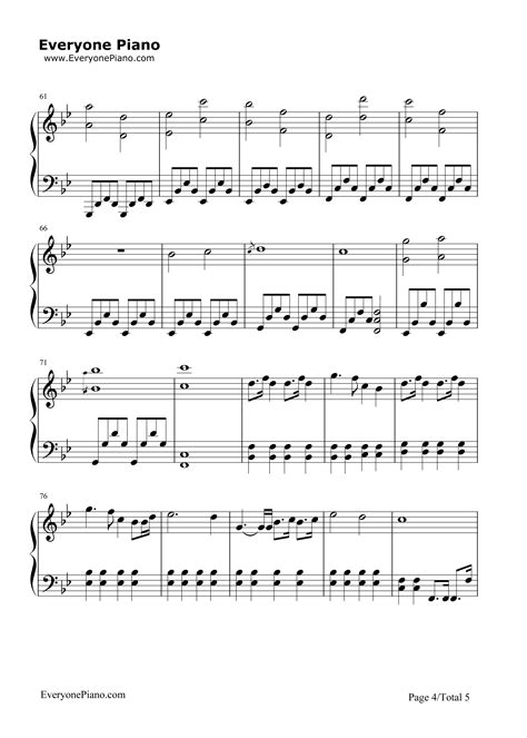 free printable sheet music a thousand years a thousand years breaking dawn ost stave preview 4 free