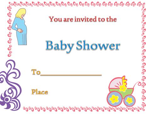 baby shower invitation card template microsoft word