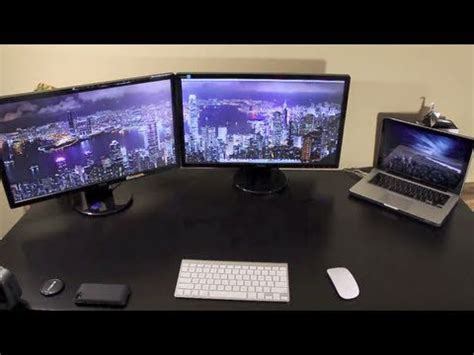 Can I Hook Up External Monitors To My Mba by Two External Monitors On A Macbook Pro